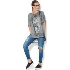 Colour Pleasure Koszulka CP-033  131 szara r. uniwersalny. T-shirty damskie Colour Pleasure. Za 76.57 zł.