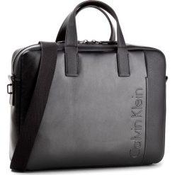 Torba na laptopa CALVIN KLEIN - Elevated Logo Slim L K50K503613 001. Czarne torby na laptopa damskie Calvin Klein, ze skóry ekologicznej. W wyprzedaży za 399.00 zł.
