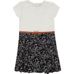 Sukienka w kolorze biało-granatowym. Białe sukienki dla dziewczynek Königsmühle. W wyprzedaży za 95.95 zł.
