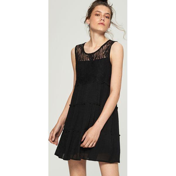 5d518cbae8 Sukienka z koronkową wstawką - Czarny - Sukienki damskie marki ...