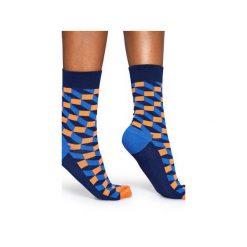 Skarpetki Happy Socks  FIO01-6002. Szare skarpety męskie Happy Socks, z bawełny. Za 24.43 zł.