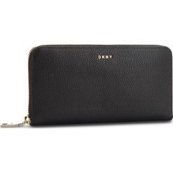 Duży Portfel Damski DKNY - Lg Zip Around R831A658 Blk/Gold BGD. Czarne portfele damskie DKNY, ze skóry. Za 639.00 zł.