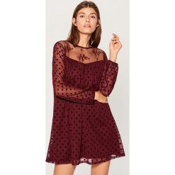 Sukienka mini - Bordowy. Czerwone sukienki damskie Mohito. Za 139.99 zł.