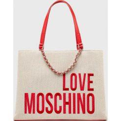 Love Moschino - Torebka. Szare torby na ramię damskie Love Moschino. Za 859.90 zł.