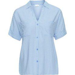 """Koszula """"boxy"""" bonprix pudrowy niebieski - biały w kratę. Koszule damskie marki SOLOGNAC. Za 79.99 zł."""