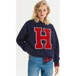 Bluza w stylu college - Granatowy. Niebieskie bluzy damskie Sinsay. Za 49.99 zł.