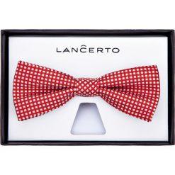 Mucha Czerwona Wzór Geometryczny. Czerwone krawaty i muchy LANCERTO, w geometryczne wzory, z dzianiny, eleganckie. Za 79.90 zł.