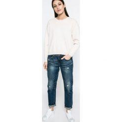 Vero Moda - Sweter. Szare swetry damskie Vero Moda, z dzianiny, z okrągłym kołnierzem. W wyprzedaży za 89.90 zł.