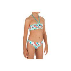 Kostium 2cz LALI CALI JR. Brązowe stroje kąpielowe dla dziewczynek OLAIAN. W wyprzedaży za 19.99 zł.