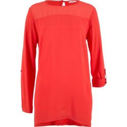 Tunika bluzkowa z asymetrycznym dołem, długi rękaw bonprix czerwony sygnałowy. Tuniki damskie marki bonprix. Za 59.99 zł.