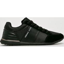 Versace Jeans - Buty. Czarne buty sportowe męskie Versace Jeans, z jeansu. W wyprzedaży za 459.90 zł.