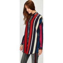 Vero Moda - Koszula. Szare koszule damskie Vero Moda, z materiału, klasyczne, z klasycznym kołnierzykiem, z długim rękawem. Za 149.90 zł.