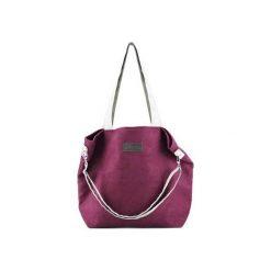 Duża torba typu shopper Mili Duo MD1 - burgund. Czerwone torebki shopper damskie Militu, w paski. Za 189.00 zł.