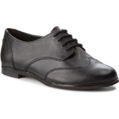 Półbuty CLARKS - Andora Trick 261271524 Black Leather. Czarne półbuty damskie Clarks, ze skóry ekologicznej. W wyprzedaży za 229.00 zł.