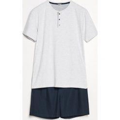 Piżama z szortami - Granatowy. Niebieskie piżamy męskie Reserved. Za 69.99 zł.