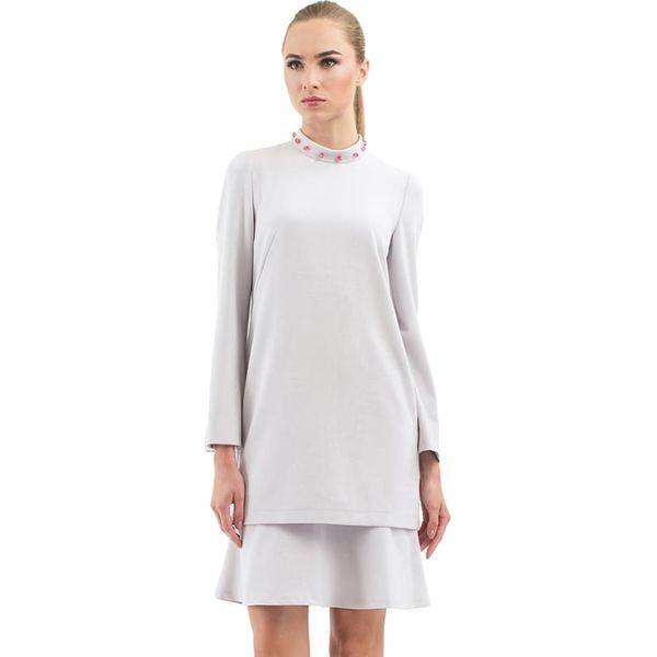 010cce9b5ef457 Sukienka w kolorze jasnoszarym - Szare sukienki damskie marki BGL, z ...