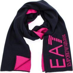 Szal EA7 EMPORIO ARMANI - 285381 8A393 31935 Black Iris 31935. Czarne szaliki i chusty damskie EA7 Emporio Armani, z materiału. W wyprzedaży za 229.00 zł.