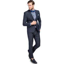 Garnitur LEONARDO GXGS900092. Niebieskie garnitury męskie Giacomo Conti, z bawełny. Za 599.00 zł.
