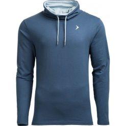 Longsleeve męski TSML601 - GRANATOWY - Outhorn. Niebieskie bluzki z długim rękawem męskie Outhorn, z bawełny, ze stójką. W wyprzedaży za 48.99 zł.