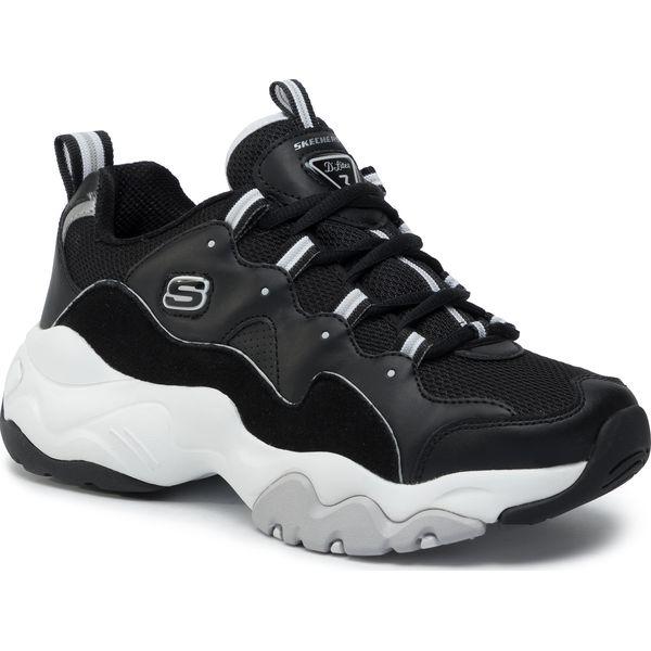 Sneakersy SKECHERS D'Lites 999878BKW BlackWhite