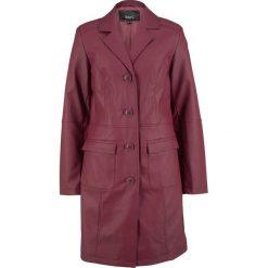 Płaszcz ze sztucznej skóry bonprix czerwony klonowy. Płaszcze damskie marki FOUGANZA. Za 239.99 zł.