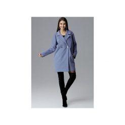 Płaszcz M625 Niebieski. Niebieskie płaszcze damskie Figl, z tkaniny. Za 299.00 zł.