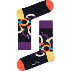 Happy Socks - Skarpety Weiner Dog. Czarne skarpety męskie Happy Socks, z bawełny. W wyprzedaży za 27.90 zł.