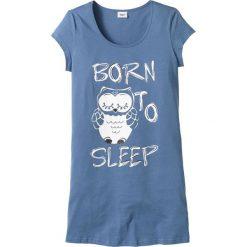 Koszula nocna bonprix niebieski - sowa. Koszule nocne damskie marki MAKE ME BIO. Za 29.99 zł.