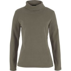 Bluza z polaru z golfem bonprix ciemnooliwkowy. Bluzy damskie marki KALENJI. Za 37.99 zł.