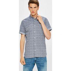 Premium by Jack&Jones - Koszula. Szare koszule męskie Premium by Jack&Jones, z bawełny, button down, z krótkim rękawem. W wyprzedaży za 99.90 zł.