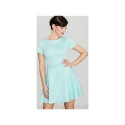 Sukienka K090 Mięta. Zielone sukienki damskie Lenitif, z krótkim rękawem. Za 129.00 zł.
