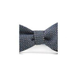 Mucha wiązana JEDWAB KWADRATY. Niebieskie krawaty i muchy Hisoutfit, z jedwabiu, wizytowe. Za 89.00 zł.
