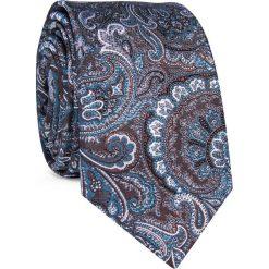 Krawat KWWR000350. Szare krawaty i muchy Giacomo Conti, w kolorowe wzory, z jedwabiu. Za 129.00 zł.