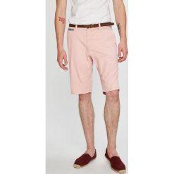 Tom Tailor Denim - Szorty. Szare szorty męskie Tom Tailor Denim, w paski, z bawełny, casualowe. W wyprzedaży za 149.90 zł.
