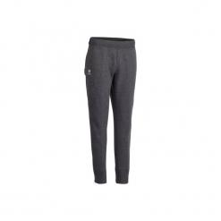 Spodnie tenisowe Ziplayer damskie. Szare spodnie materiałowe damskie ARTENGO, z bawełny. Za 89.99 zł.