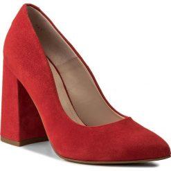 Półbuty SOLO FEMME - 14101-8A-G13/000-04-00 Czerwony. Czerwone półbuty damskie Solo Femme, z materiału, eleganckie. W wyprzedaży za 199.00 zł.