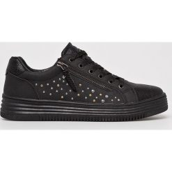 XTI - Buty. Czarne obuwie sportowe damskie Xti, z materiału. W wyprzedaży za 149.90 zł.