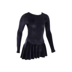 TUNIKA DO JAZDY FIGUROWEJ. Czarne sukienki dla dziewczynek OXELO. Za 129.99 zł.