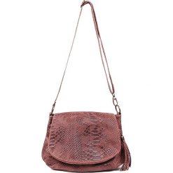 """Skórzana torebka """"Maelie"""" w kolorze brązowym - 29 x 24 x 8 cm. Brązowe torby na ramię damskie Spéciale Maroquinerie. W wyprzedaży za 129.95 zł."""