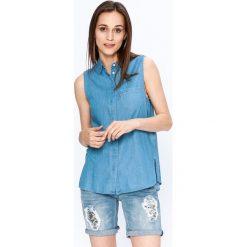 Levi's - Koszula. Brązowe koszule damskie Levi's, z bawełny, casualowe, z klasycznym kołnierzykiem, z krótkim rękawem. W wyprzedaży za 149.90 zł.