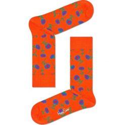 Happy Socks - Skarpetki Sunflower. Pomarańczowe skarpety damskie Happy Socks, z bawełny. Za 39.90 zł.