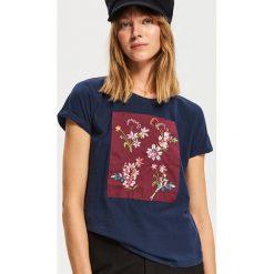 T-shirt z nadrukiem - Granatowy. T-shirty damskie marki DOMYOS. W wyprzedaży za 19.99 zł.