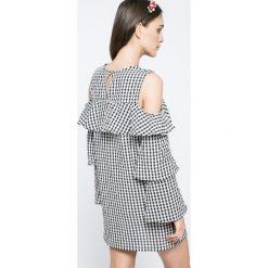Missguided - Sukienka. Szare sukienki damskie Missguided, z bawełny, casualowe, z długim rękawem. W wyprzedaży za 69.90 zł.