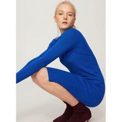 Dopasowany sweter - Niebieski. Kardigany damskie marki bonprix. W wyprzedaży za 39.99 zł.