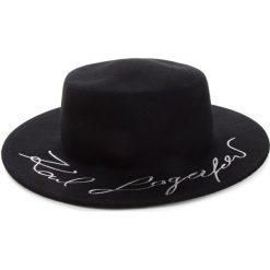 Kapelusz KARL LAGERFELD - 86KW3413  Black 999. Czarne czapki i kapelusze damskie KARL LAGERFELD, z materiału. Za 569.00 zł.