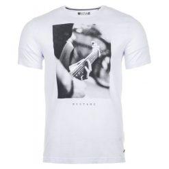 Mustang T-Shirt Męski, M, Biały. Białe t-shirty męskie Mustang, z nadrukiem. Za 128.00 zł.