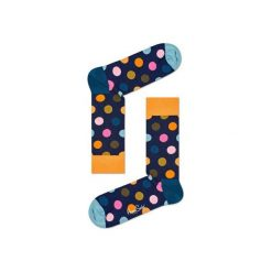 Skarpetki Happy Socks - Big Dot (BDO01-6006). Szare skarpety męskie Happy Socks, w kolorowe wzory, z bawełny. Za 34.90 zł.