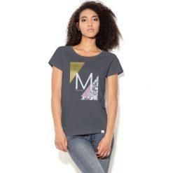 Colour Pleasure Koszulka damska CP-034  38 szaro-biało-żółto-różowa r. XL-XXL. Bluzki damskie Colour Pleasure. Za 70.35 zł.