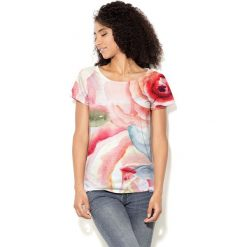 Colour Pleasure Koszulka CP-034  9 różowa r. XXXL/XXXXL. Bluzki damskie marki Colour Pleasure. Za 70.35 zł.