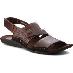 Sandały NIK - 06-0227-01-7-02-02 Brązowy. Brązowe sandały męskie Nik, z materiału. W wyprzedaży za 159.00 zł.